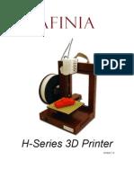Afinia 3D Printer Users Manual v1 4