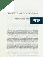 GADAMER Y EL NACIONALSOCIALISMO
