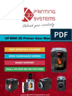 UP Mini 3D Printer Manual