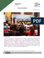 26/04/13 Germán Tenorio Vasconcelos PIE de FOTO de Reunión Nacional de Profesores de Microbiología y Parasitología