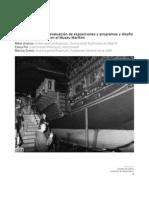 evaluación de exposiciones y programas de diseño de museos