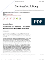 Anarchism and Violence — Severino Di Giovanni in Argentina 1923-1931 by Osvaldo Bayer