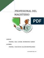 Etica Profesional Del Magisterio