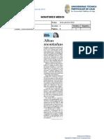 Informe de prensa semana del 19 al 26 de abril de 2013
