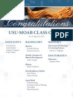 Congratulations USU-Moab Class of 2013