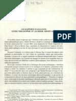 LES RAPPORTS D'ANALOGIE ENTRE PHILOSOPHIE ET ALCHIMIE MÉDIÉVALES
