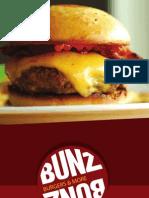 Bunz Burgers Menu