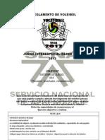 REGLAMENTO de VOLEIBOL Juegos Interespecialidades Sena