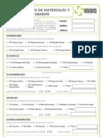 Cuestionario Materiales y Acabados 2013