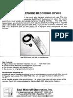 SME-TP3C Telephone Recording Device