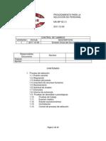 Ma-mp-02 Procedimiento Para Seleccion de Personal