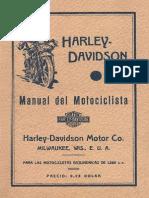Harley-Davidson 1930-1936 1200 CC. Manual Del Motociclista (EN ESPAÑOL)