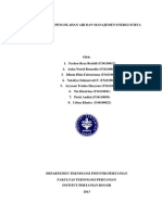 Manajemen Pengolahan Air dan Manajemen Energi Surya