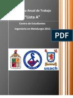 Programa Anual de Trabajo CEMET 2013 (FINAL)