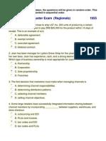 2011 Marketing Cluster Exam (Regionals)