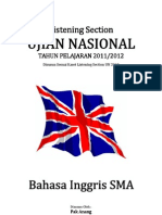 Naskah Soal Listening Section UN Bahasa Inggris 2012