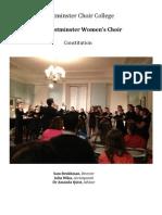 Women's Choir Constitution