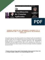 Diversos aspectos del rendimiento académico de la generación 2006 y algunas propuestas relacionadas con ellos