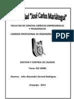 iSO 10000 - John Durand Rodriguez - Ingenieria Comercial - Gestion y Control de Calidad
