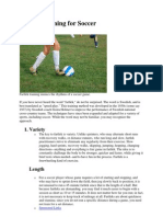 Fartlek Training for Soccer