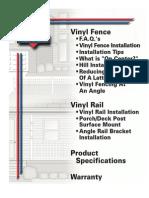 Vinyl Fence Installation Procedures