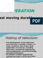 Operation Management in Television