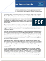 Dsm 5 Autism Spectrum Disorder Fact Sheet