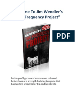 Jim Wendler's Frequency Project