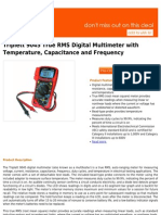 Best Buy Triplett 9045 True RMS Digital Multimeter With Temperature, Capacitance and Frequency