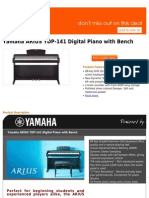 Best Buy Yamaha ARIUS YDP-141 Digital Piano With Bench