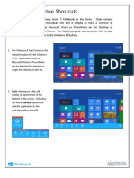 Windows 8 Desktop Shortcuts