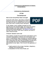 Discuss the Contemporary Development of Islamic Jurisprudenc1