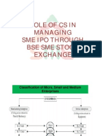Role of CS in Managing SME IPO Through BSE SME Stock Exchange Compatibility Mode