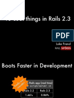 10 Cool Things in Rails 2.3