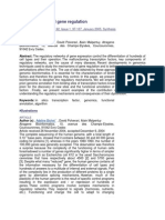 Bioinformatics and Gene Regulation