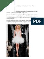 Minirock Als Hochzeitskleid Laufsteg in Brautkleid Mode Woche Beherrschen