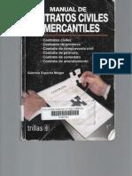 Manual de Contratos Civiles y Mercantiles. (Gabriela Esperón Melgar).