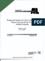 ARL-TR-2074 - Analysis Fuze Configurable Range Correction