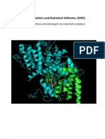 Effect of Hardness and Detergent on Enzymatic Catalysis