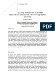 Investigating Malaysian Business Negotiation Discourse an Ethnographic Journey