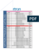 Artron Lab External Product Catalog Nov 23 12