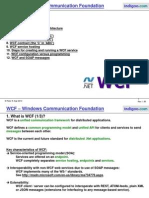 WCF | Windows Communication Foundation | Hypertext Transfer