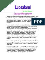 Luceafarul-Comentariu literar