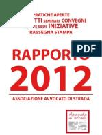 Rapporto 2012 Avvocato di strada Onlus