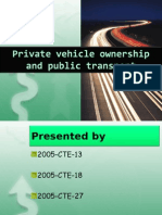 Private VehiCLE OWNERSHIP vs Public Transport