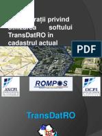 Considerații privind utilizarea softului TransDatR