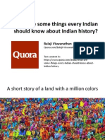What Are Some Things Every Indian Should Know