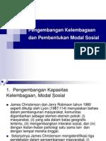3. Pengembangan Kelembagaan_Pembentukan Modal Sosial