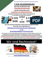 AUFRUF ZUR VOLKSERHEBUNG - Unterzeichne Auch Du Die Globale Deklaration Der Forderung Auf Unserer Webseite