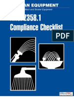 ANSI Z358.1 Emergency Eye Wash and Shower Equipment
